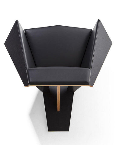 Frank Lloyd Wright Taliesin Origami Chair - Leather Upholstery Top