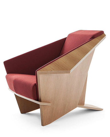 Frank Lloyd Wright Taliesin Origami Chair - Wool Fabric Upholstery