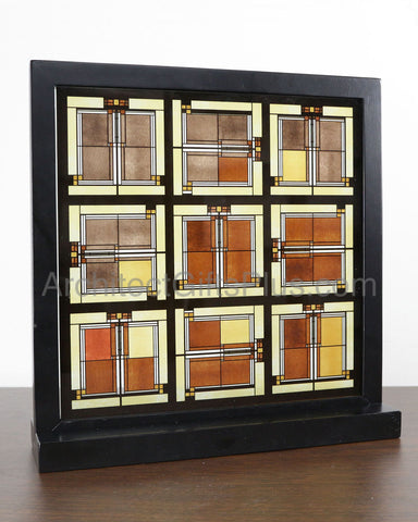 FLW Unity Temple Stained Glass Inset