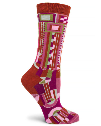 Frank Lloyd Wright Saguaro Women's Socks - Pink