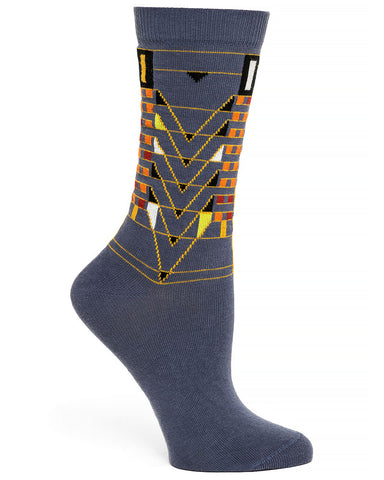 Frank Lloyd Wright Tree of Life Women's Socks - Grey