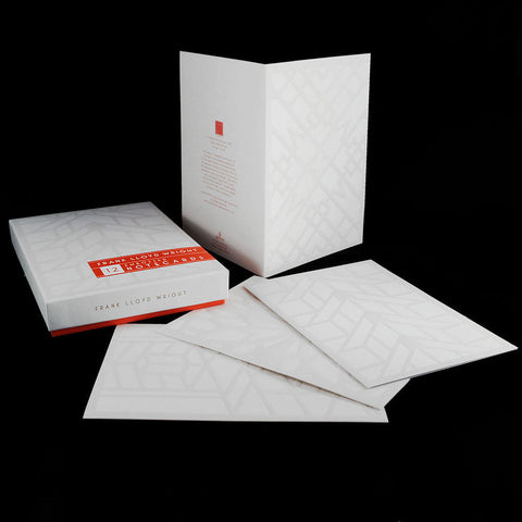 Frank Lloyd wright Embossed Note Cards