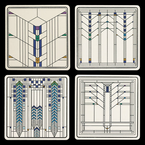 Frank Lloyd Wright Ennis House Windows Coasters