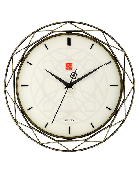 frank lloyd wright luxfer prism wall clock. Black Bedroom Furniture Sets. Home Design Ideas