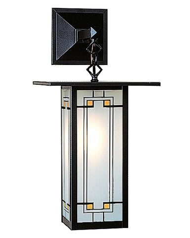 Arroyo Craftsman Franklin FB-9LSA Wall Sconce - Yellow Black