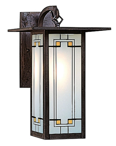 Arroyo Craftsman Franklin FB-9L Wall Sconce - Yellow Black