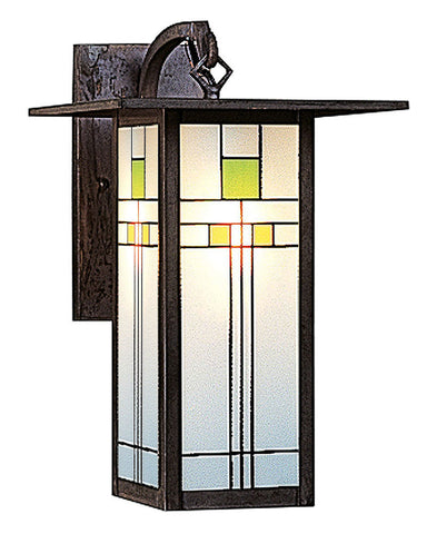 Arroyo Craftsman Franklin FB-9L Wall Sconce - Green Yellow