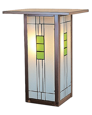Arroyo Craftsman Franklin FW-9L Wall Sconce - Green and Black