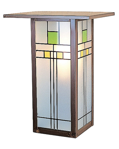 Arroyo Craftsman Franklin FW-9L Wall Sconce - Yellow and Green