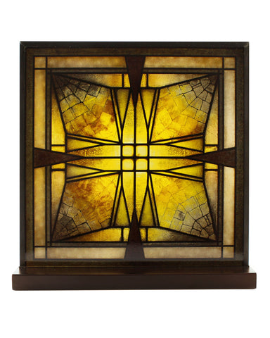 Frank Lloyd Wright Thomas Entry Ceiling Light Stained Glass (front)