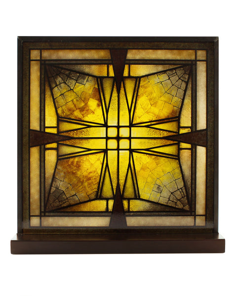 Frank Lloyd Wright Thomas Entry Ceiling Light Stained