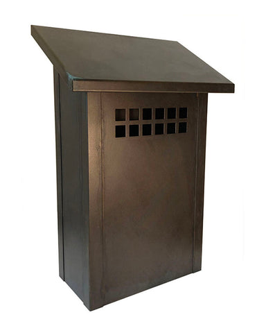 Arroyo Craftsman GMB Glasgow Mailbox - Rustic Brown