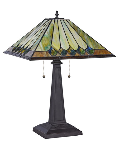 Arts & Crafts Graham Stained Glass Table Lamp