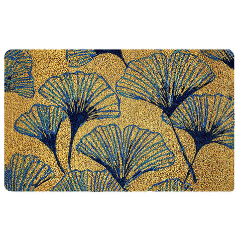 Arts & Crafts Ginkgo Handwoven Doormat