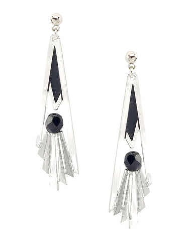 Grand Staircase Earrings - Black
