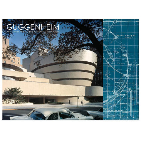 Frank Lloyd Wright Guggenheim 2-Sided 500 Piece Jigsaw Puzzle