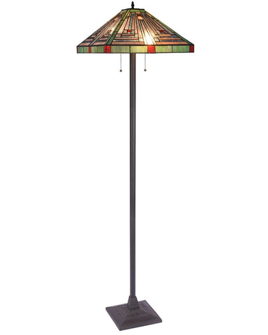 Arts & Crafts Innes Stained Glass Floor Lamp