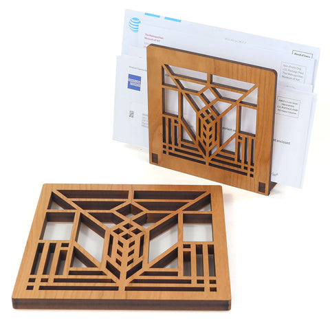 Frank Lloyd Wright Lake Geneva Trivet and Napkin Holder