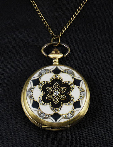 Vintage Style Pocket Watch Pendant Necklace 2