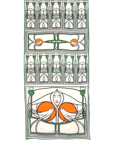 Mackintosh Lady with Doves Crepe de Chine Silk Scarf
