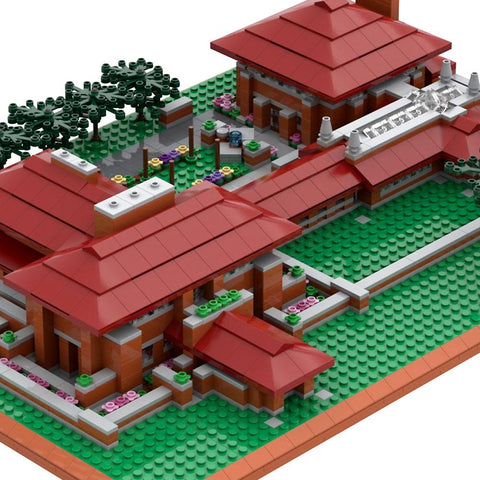 Frank Lloyd Wright Darwin D. Martin House Architecture Building Brick Set Close Up