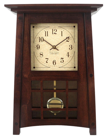 Amish Craftsman McCoy Mantel Clock - Brown Maple