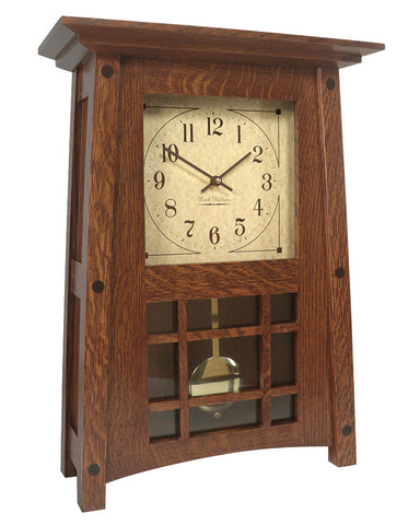 Amish Craftsman McCoy Mantel Clock - Quarter Sawn Oak