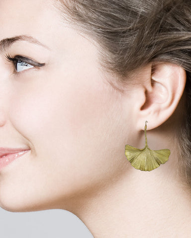 Michael Michaud Ginkgo Large Wire Earrings