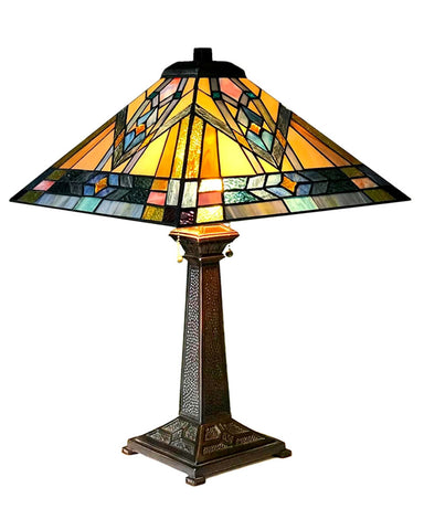 Arts & Crafts Michael Stained Glass Table Lamp