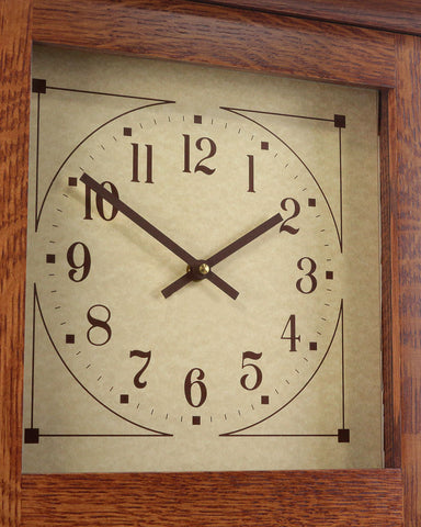 Amish Craftsman Mission Wall Clock