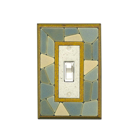 Mosaic Border Ceramic Tile Switch Plate Single Toggle