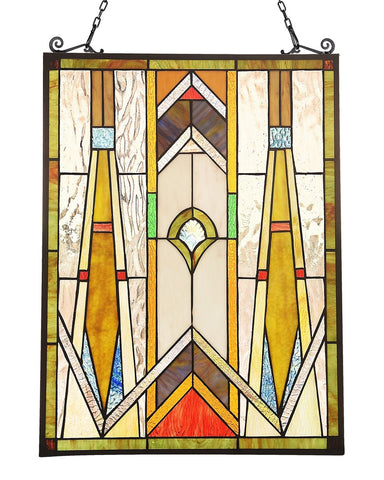 Arts & Crafts Rowan Stained Glass Panel