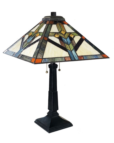 Arts & Crafts Shay Stained Glass Table Lamp