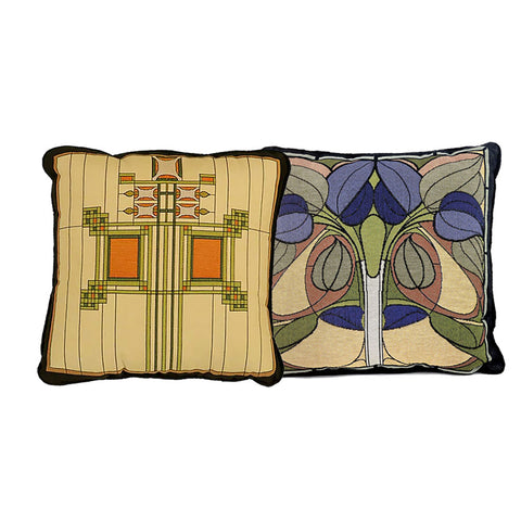 Louis Sullivan Art Glass Window Tapestry Pillow