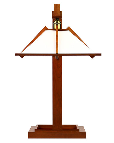 Frank Lloyd Wright Taliesin 1 Table Lamp - Cherry - Front