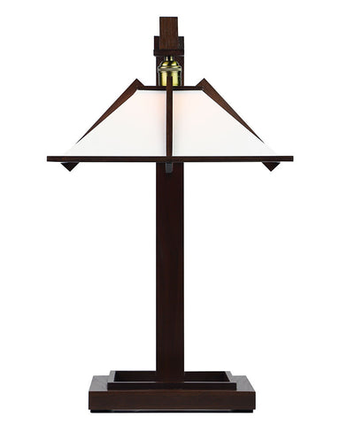 Frank Lloyd Wright Taliesin 1 Table Lamp - Walnut - Front