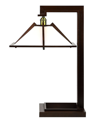Frank Lloyd Wright Taliesin 1 Table Lamp - Walnut - Side