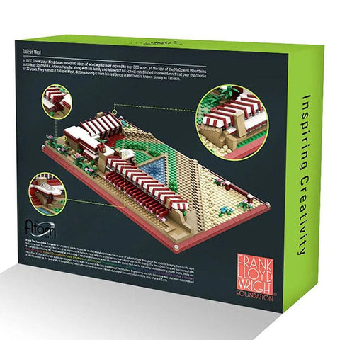 Frank Lloyd Wright Taliesin West Architecture Building Brick Set Box Back