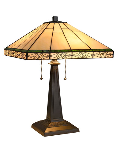 Arts & Crafts Theros Stained Glass Table Lamp