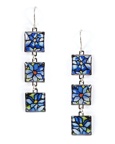 Loius C. Tiffany Clematis Earrings