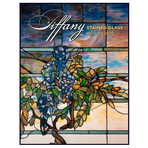 Tiffany Stained Glass Coloring Book (cover)