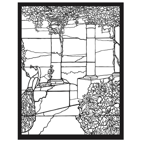 Tiffany Stained Glass Coloring Book (interior)