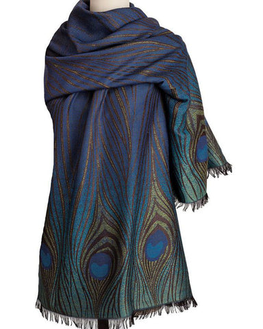 Louis C. Tiffany Peacock Feather Shawl