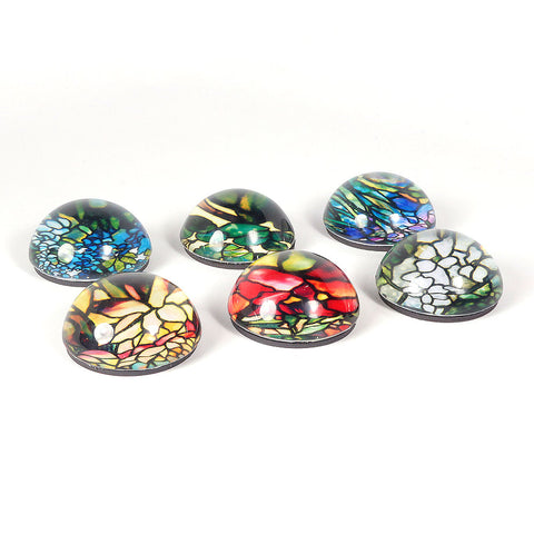 Louis C. Tiffany Stained Glass Domed Magnets