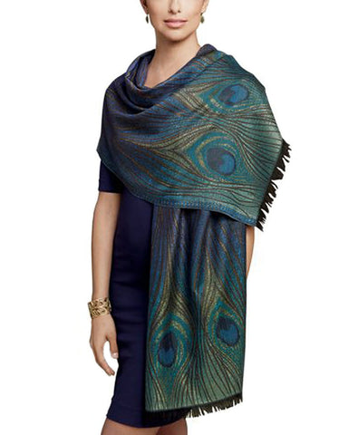 Louis C. Tiffany Peacock Feather Shawl - Model
