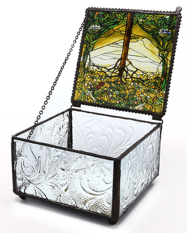Tiffany Tree of Life Trinket Box Open