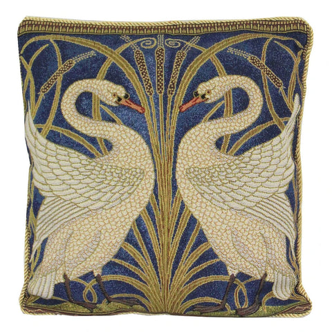 Walter Crane Swan Tapestry Pillow