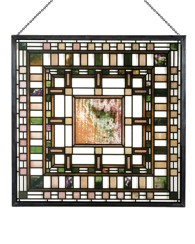 Frank Lloyd Wright Martin House Pier Cluster Laylight Glass Panel