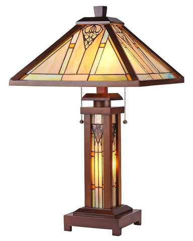 Arts & Crafts Zella Stained Glass Table Lamp