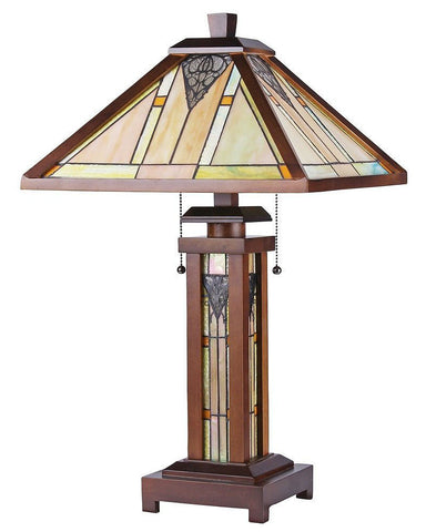 Arts & Crafts Zella Stained Glass Table Lamp 2